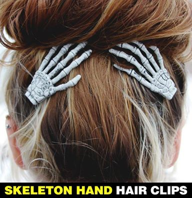 skeleton-hand-hair-clips